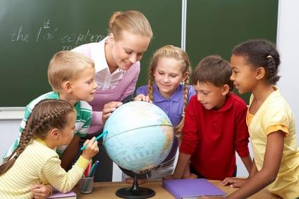 dobra nauczycielka-lekcja geografii