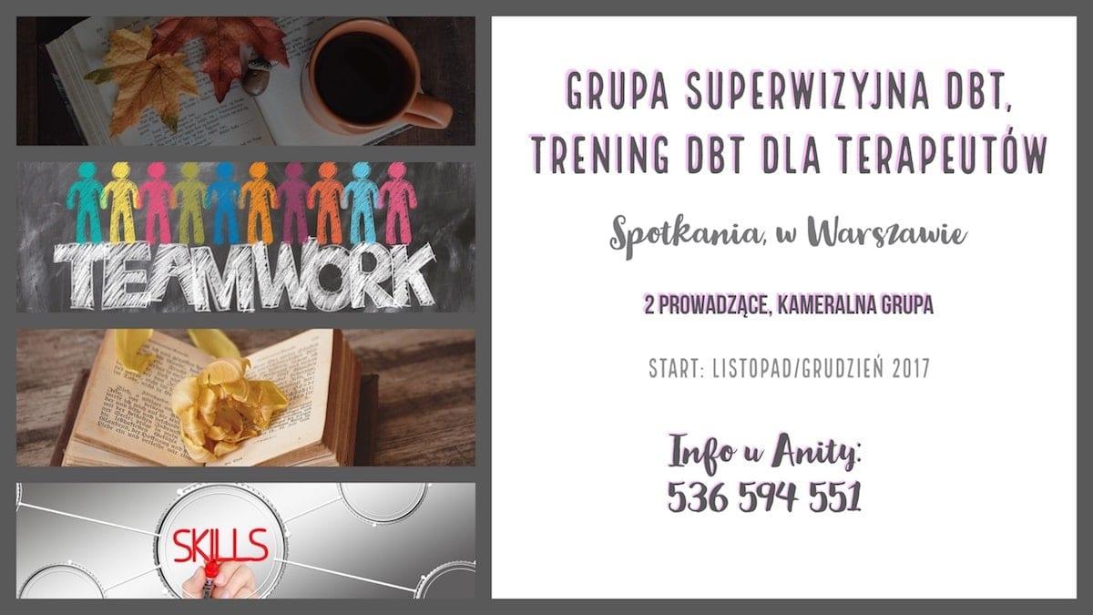 grupa DBT konsultacyjna superwizyjna dla psychologów, terapeutów