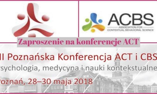 Fantastyczna Konferencja ACT terapia Akceptacji i Zaangażowania